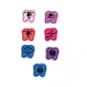 Tooth Shaped Erasers Assorted (72)