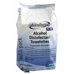 Clinicare Alcohol Towelette Refill (220)
