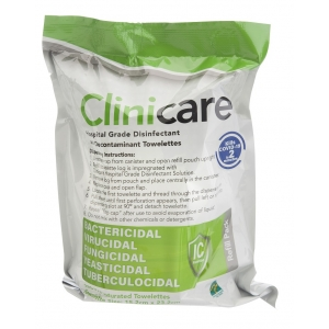 Clinicare Hospital Grade Disinfectant Wipe Refill (220)