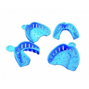 Unident Uni Blu Impression Trays Large Lower (24) Blue